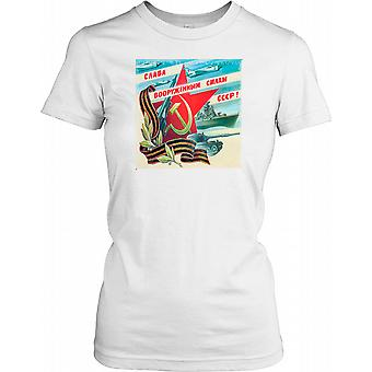 The Cold War - Russian Espionage Poster Ladies T Shirt