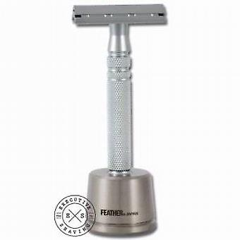 Feather AS-D2S Double Edged All Stainless Safety Razor & Stand