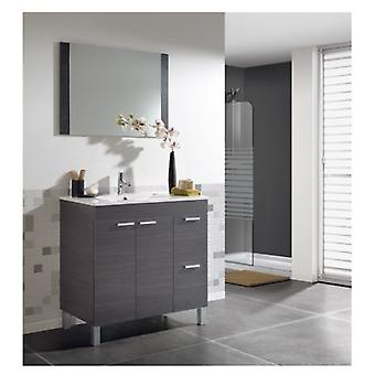 Wellindal 80. washbasin 2 doors + 2 drawers + mirror Aktiva. Ash Grey