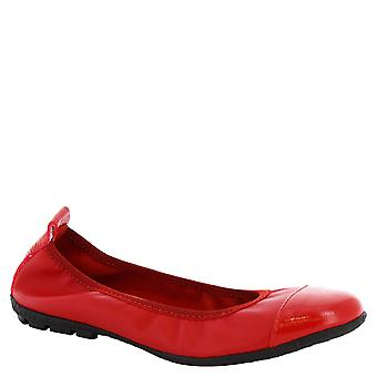 Leonardo Shoes Woman's handmade ballerinas in red leather