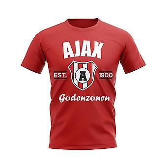 Ajax Established Football T-Shirt (Red)
