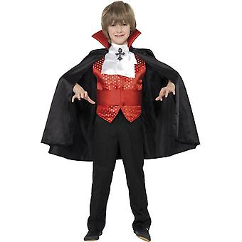 Kostyme Young Dracula kostyme barn med kappe cummerbund tie og vest Kids drakt