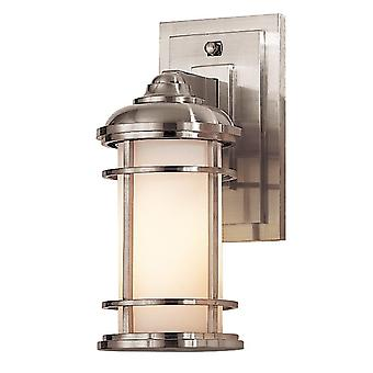 Stead-1 Light Small Wall Laterne-Brushed Steel Finish-FE/LIGHTHOUSE2/S