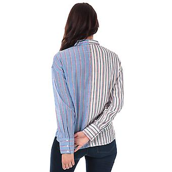 Womens Only Harry Mix Stripe Shirt In White