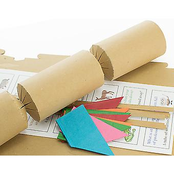 8 BUDGET Natural Brown Kraft Recycled Make & Fill Your Own Cracker Kit