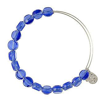 Alex et Ani saphir luxe Perle Bracelet en argent BBEB113S