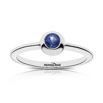 Pepperdine University Pepperdine Engraved Sapphire Ring