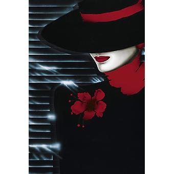 Affisch-Studio B-24x36 Scarlet Lady Wall Art CJ1488B