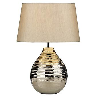 Gustav tafel lamp klein zilver compleet met zilveren tint Gus1232