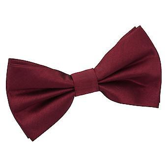 Bourgogne Plaine Shantung Cravate d'arc pré-tied