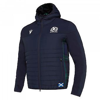 2019-2020 Scotland Macron Rugby Travel Bomber Jacket (Navy)