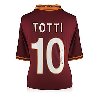 Francesco Totti Signed AS Roma 2013-14 Home Shirt