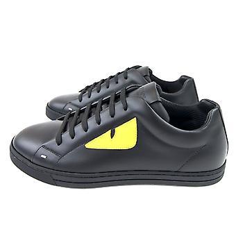 Fendi Bug Eye Sneaker Nero/yellow