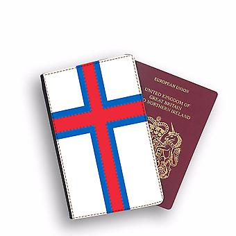 FAROE ISLAND Flag Passport Holder Style Case Cover Protective Wallet Flags design