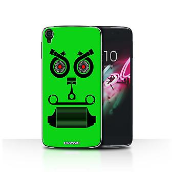 STUFF4 Case/Cover for Alcatel Idol OneTouch 3 5.5/Turbo/Green/Car Part Faces