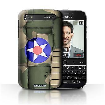 STUFF4 Case/Cover for Blackberry Classic/Q20/America/Green/Airplane Fighter Wing