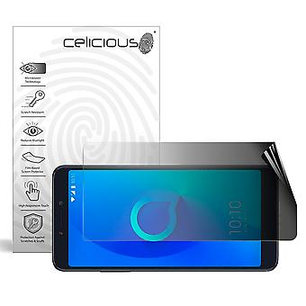 Celicious Privacy 2-Way Landscape Anti-Spy Filter Screen Protector Film Compatible with Alcatel 3v
