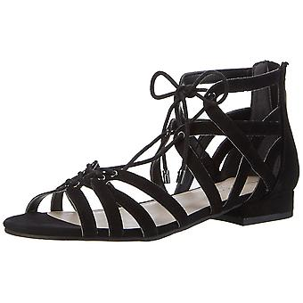 Kenneth Cole New York Womens Valerie Leather Open Toe Casual Strappy Sandals