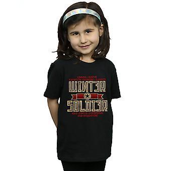 Marvel Girls Winter Soldier Trigger Badge T-Shirt