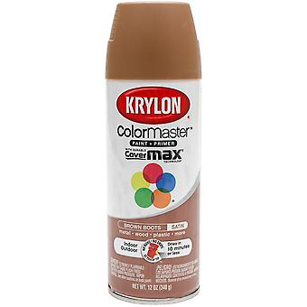 Colormaster Indoor/Outdoor Aerosol Paint 12oz-Satin Brown Boots 1000A-53562