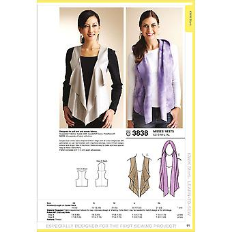 Vests  Xs  S  M  L  Xl Pattern K3838