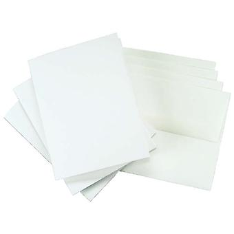 Greeting Cards & Envelopes 25 Sets Pkg White, 5.25
