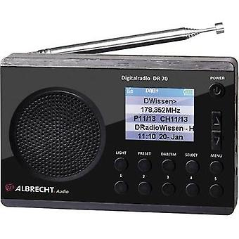 DAB+ Portable radio Albrecht DR 70 DAB+, FM Torch Black