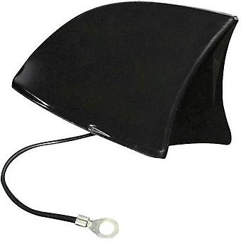 PVC Car shark fin antenna Black (W x H x D) 115 x 75 x 65 mm Eufab 521203