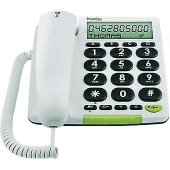 Corded Big Button doro PhoneEasy 331 ph Visual call notification, Hands-free Matte White