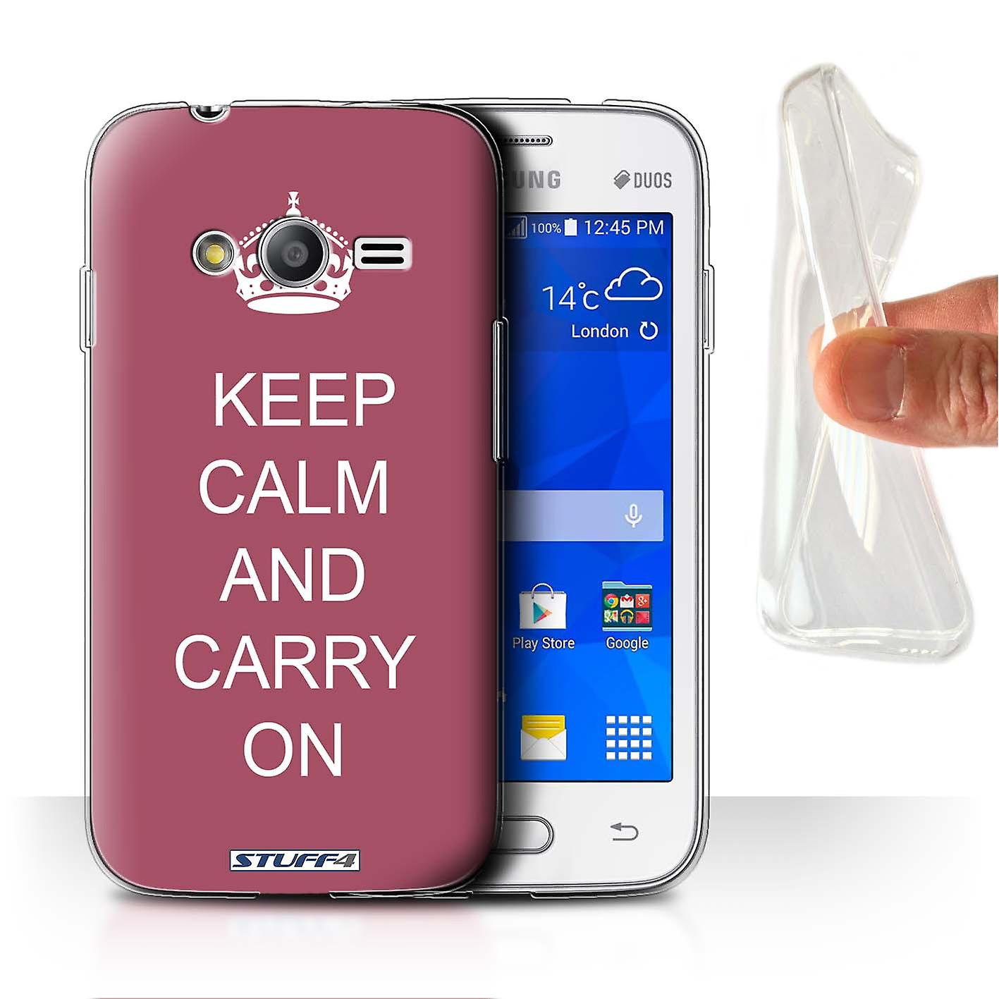 STUFF4 Gel/TPU Case/Cover for Samsung Galaxy S Duos 3/G313/Carry On/Maroon/Keep Calm Stuff4 Housses pour téléphones mobiles