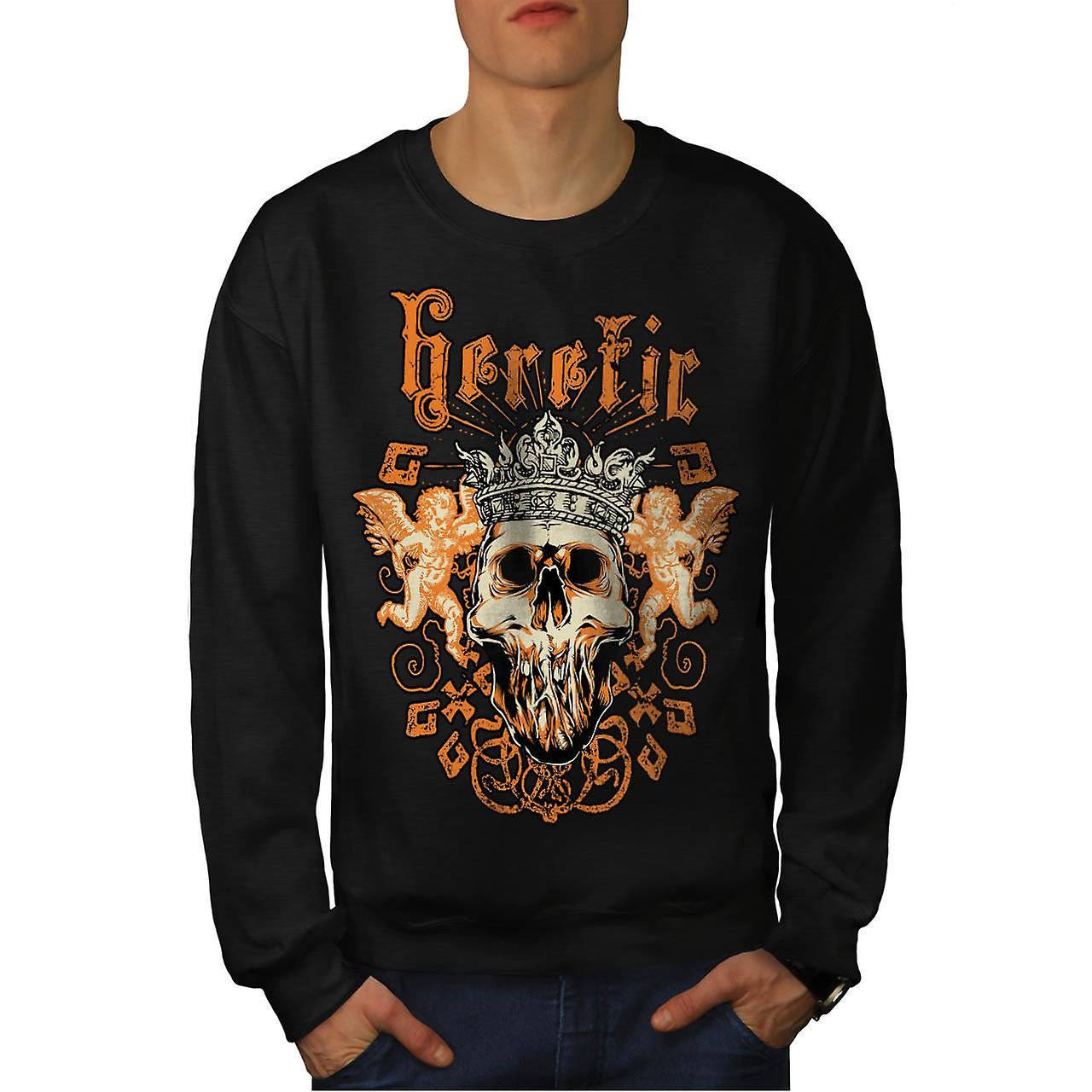 Kjetter Monster King Skull raseri menn svart Sweatshirt | Wellcoda