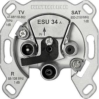 Antenna socket TV, FM, SAT Kathrein ESU 34 Flush mount
