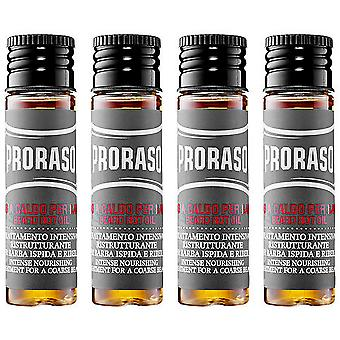 Proraso Beard Hot Oil 4X17 Ml (Homme , Barbe Et Moustache , Huiles Et Baumes )