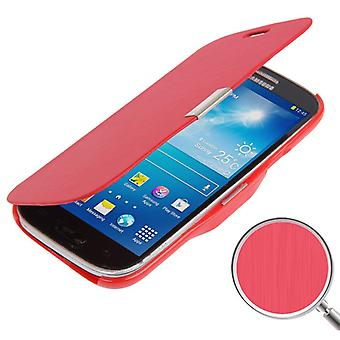 Cell phone cover case for Samsung Galaxy S4 mini i9190 red brushed