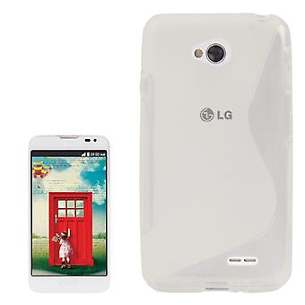 Mobile Shell S line TPU case voor LG L70 / dual D325 transparant