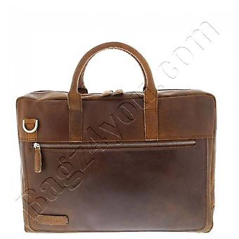 Plover Business/laptop bag vintage cowhide leather 2-compartment 15.6