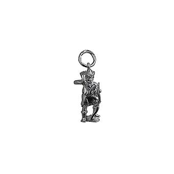 Silver 17x9mm Robin Hood Pendant or Charm