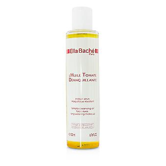 Ella Bache Tomato Cleansing Oil for Face, Eyes, Long-wearing Make-up (Salon Size) 200ml/6.76oz