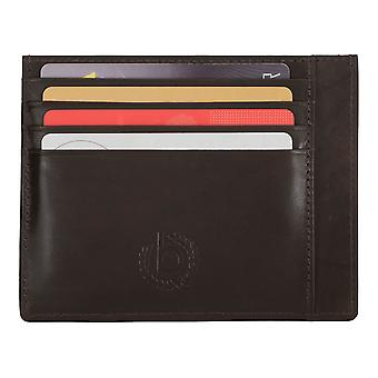 Bugatti mens credit card holder card holder leather case Brown 5325 Trenta