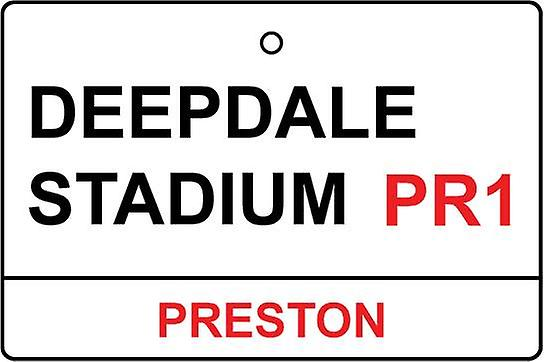 Preston / Deepdale Stadium Street Sign Car Air Freshener