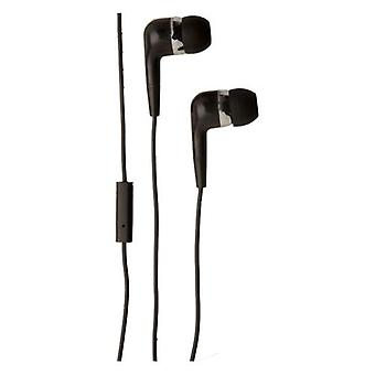 Groov-e Listen and Talk Headphone with Microphone Mobile Buds - Black (GVEB4BK)