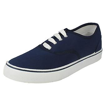 Mens Spot On Flat Lace Up Casual Pump - X0003