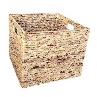 Large Water Hyacinth Square Storage Basket