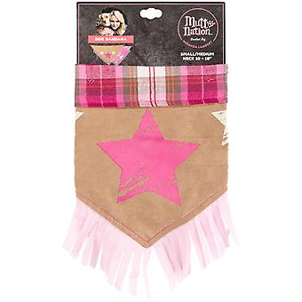 Miranda Lambert's Mutt Nation Dog Bandana Small-Stars & Plaid FP8781ST
