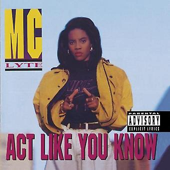 Mc Lyte - Act Like You Know [CD] USA import