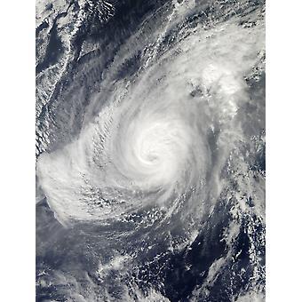 Taifun Nida Süd-südwestlich von Iwo Jima Poster Print