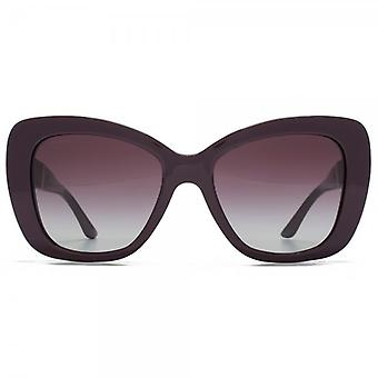 Versace Medusa Logo Flared Sunglasses In Eggplant