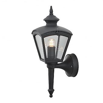 Konstsmide Cassiopeia Matt Black Porch Light Wall Lantern