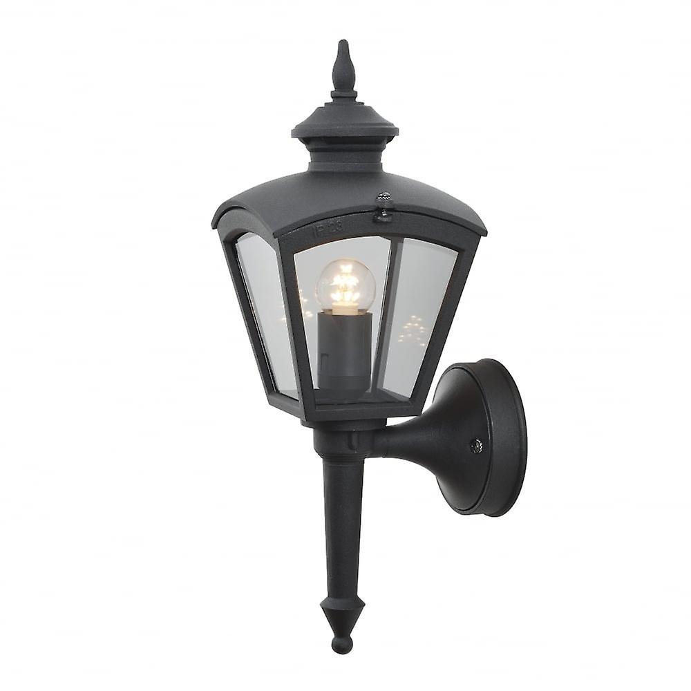Konstsmide Cassiopeia Matt Black Porch Light Wall Lantern