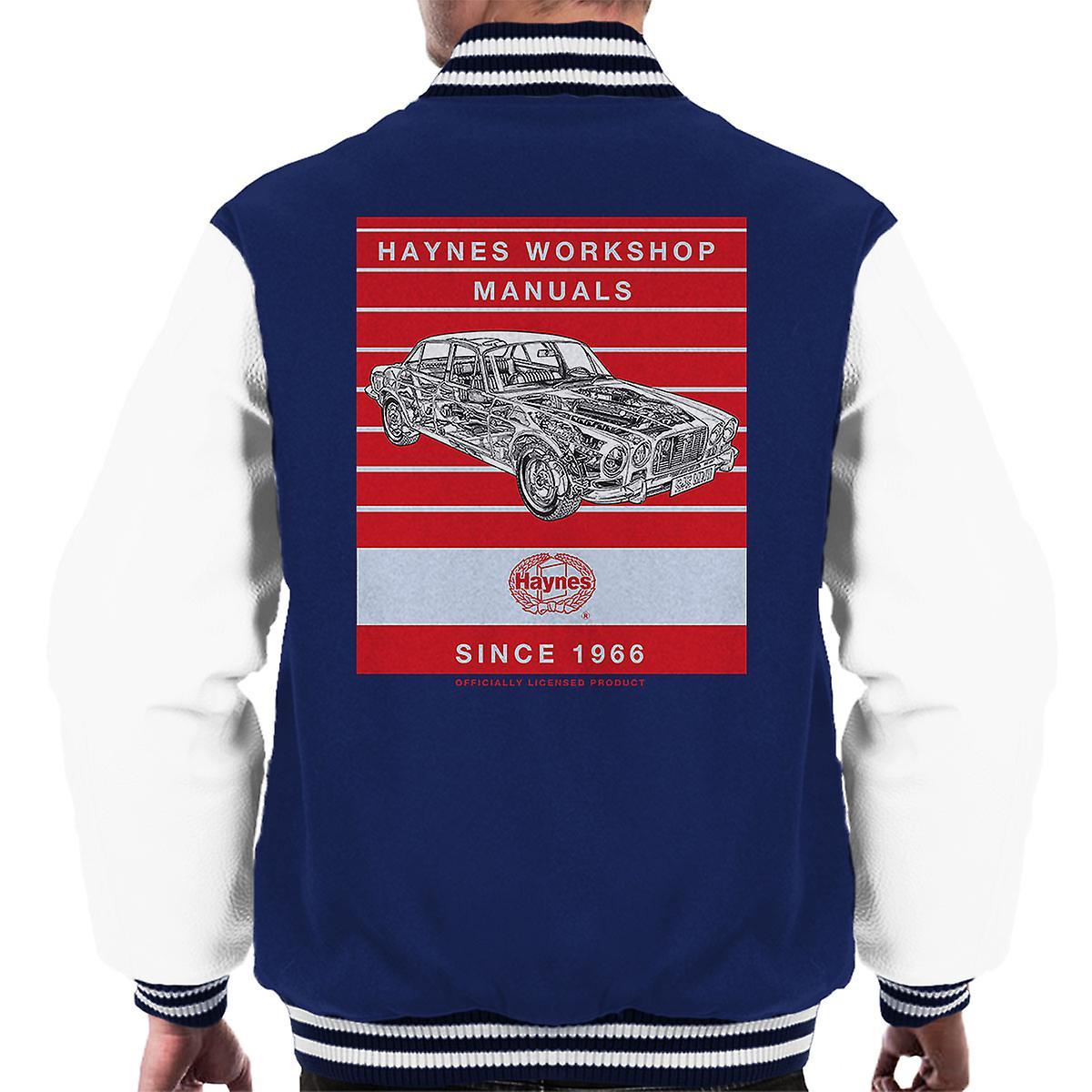 Haynes Workshop handmatige 0242 Jaguar XJ6 Stripe mannen Varsity Jacket
